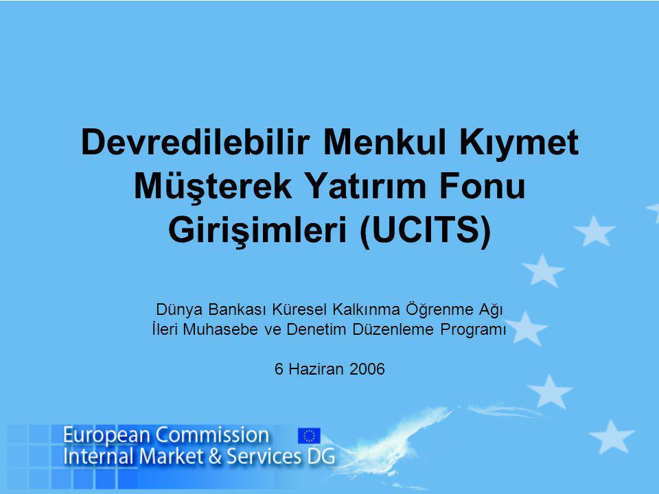 Devredilebilir Menkul Kıymet Müşterek Yatırım Fonu Girişimleri (UCITS)