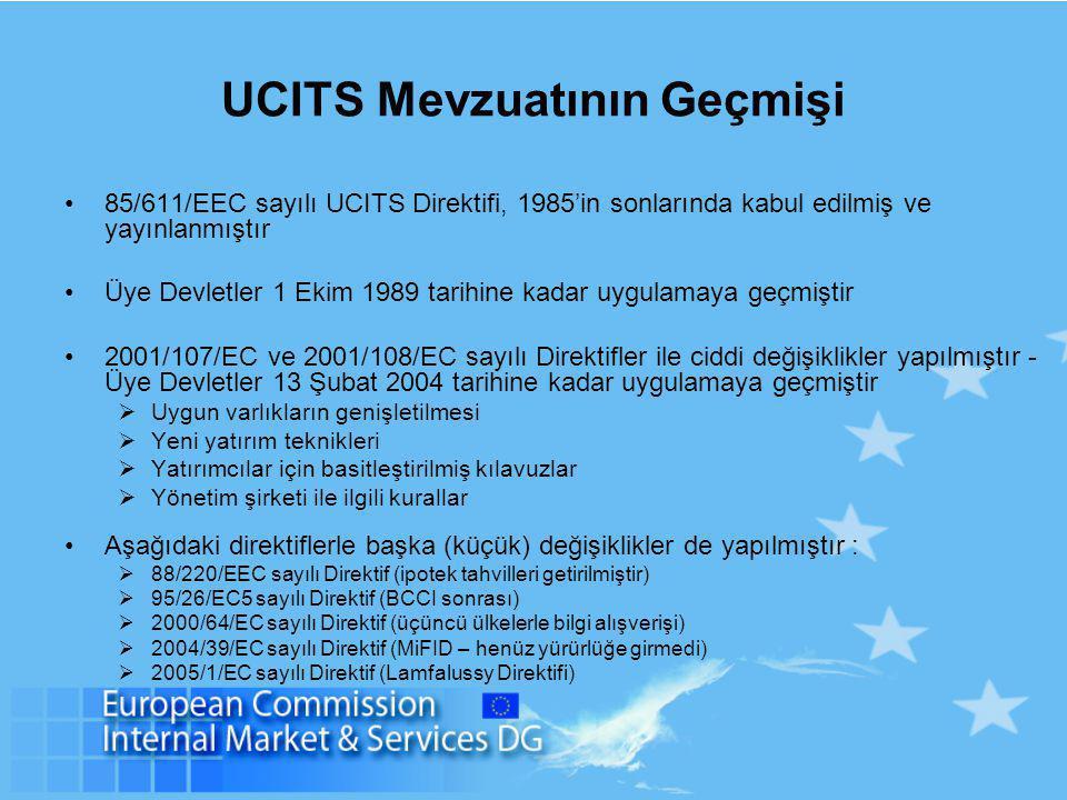 UCITS Mevzuatının Geçmişi