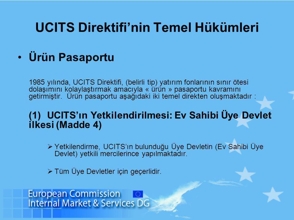 UCITS Direktifi'nin Temel Hükümleri