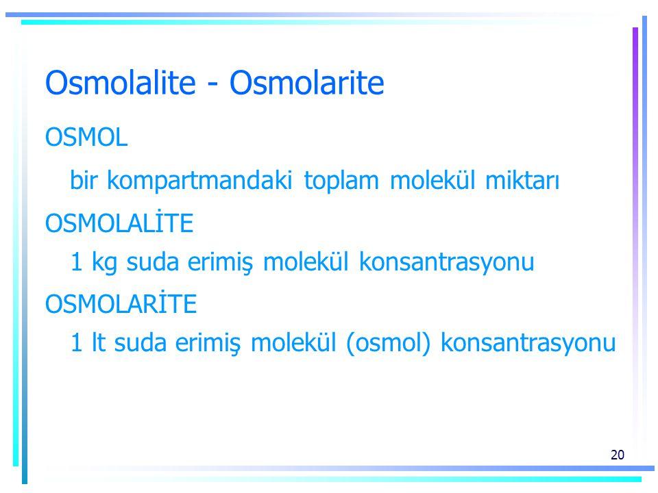 Osmolalite - Osmolarite