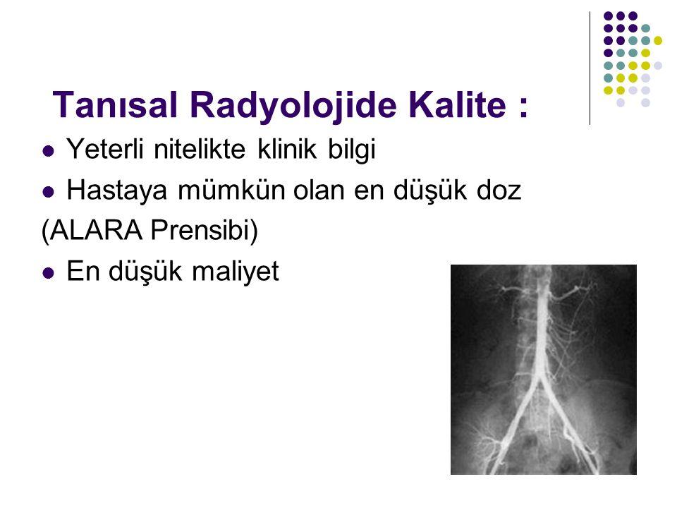 Tanısal Radyolojide Kalite :