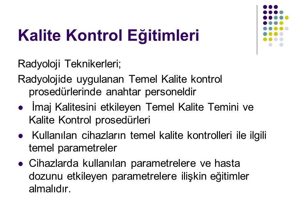 Kalite Kontrol Eğitimleri