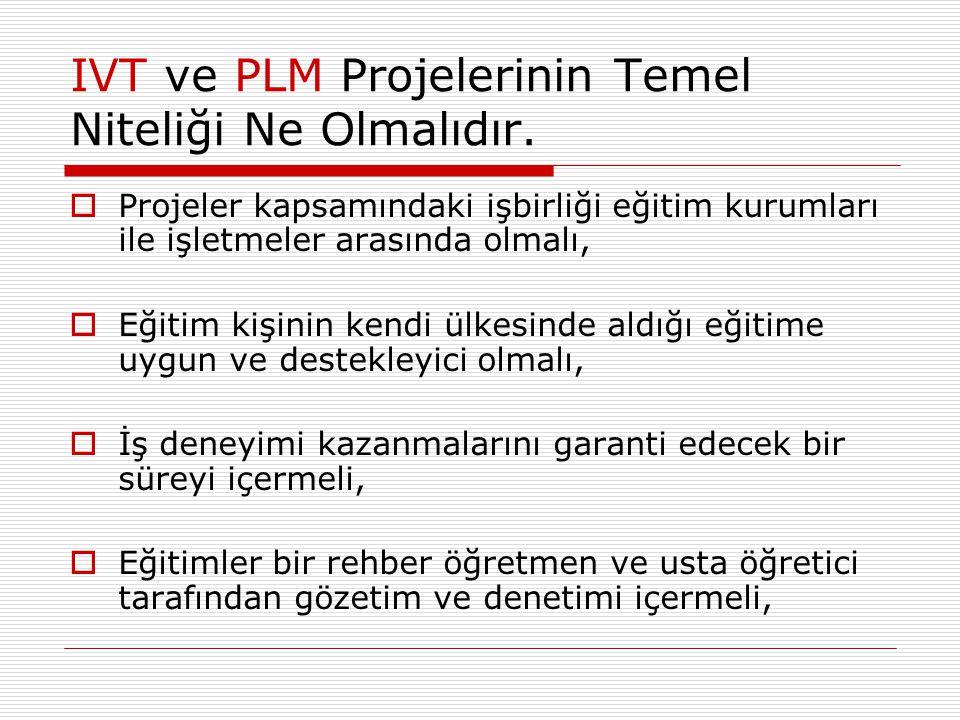 IVT ve PLM Projelerinin Temel Niteliği Ne Olmalıdır.