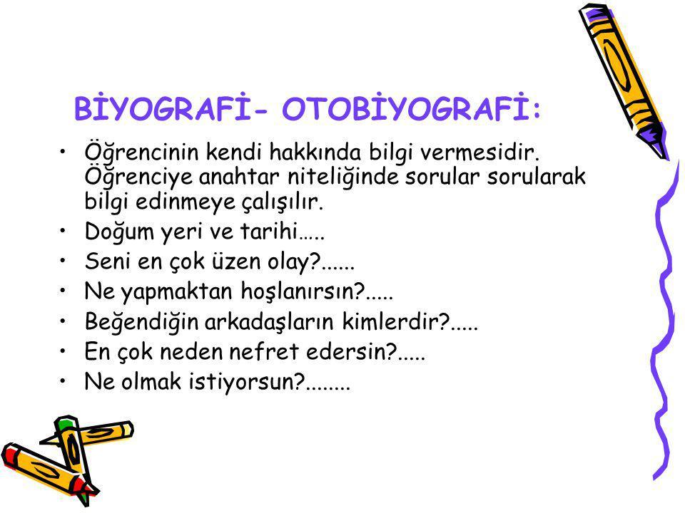 BİYOGRAFİ- OTOBİYOGRAFİ: