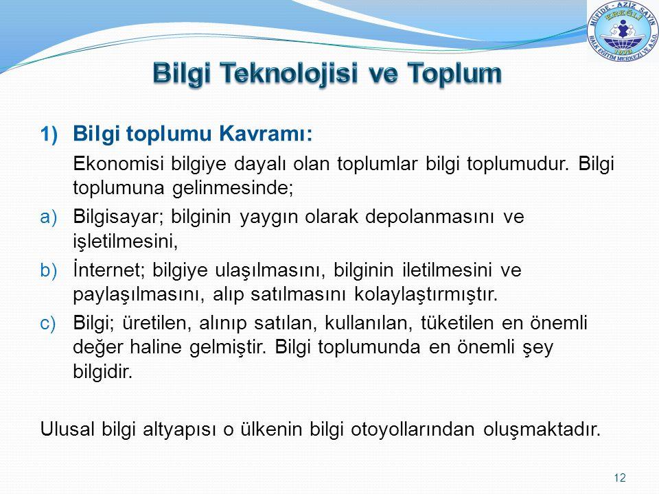 Bilgi Teknolojisi ve Toplum
