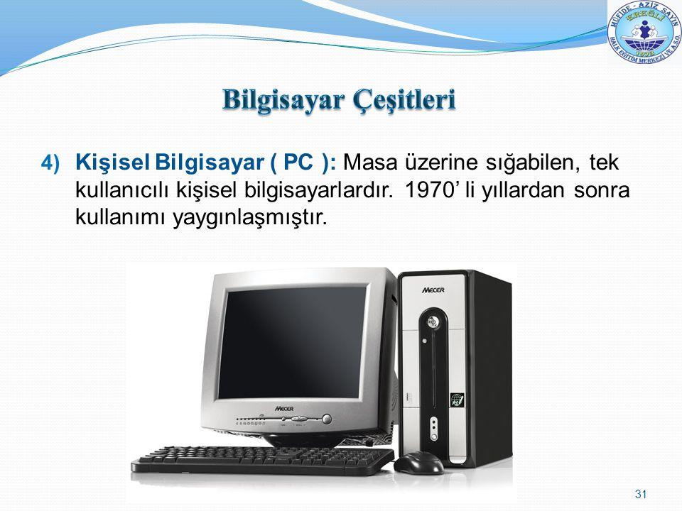 Bilgisayar Çeşitleri