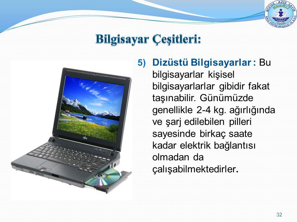 Bilgisayar Çeşitleri: