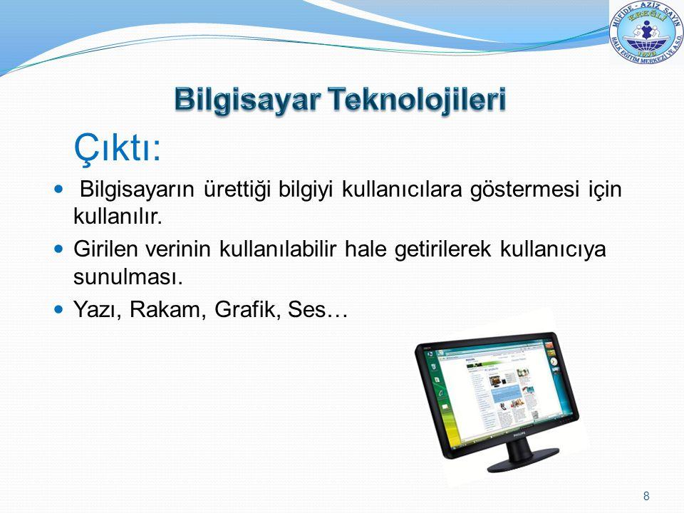 Bilgisayar Teknolojileri
