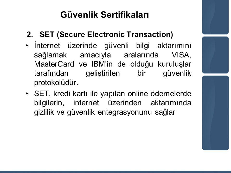 Güvenlik Sertifikaları