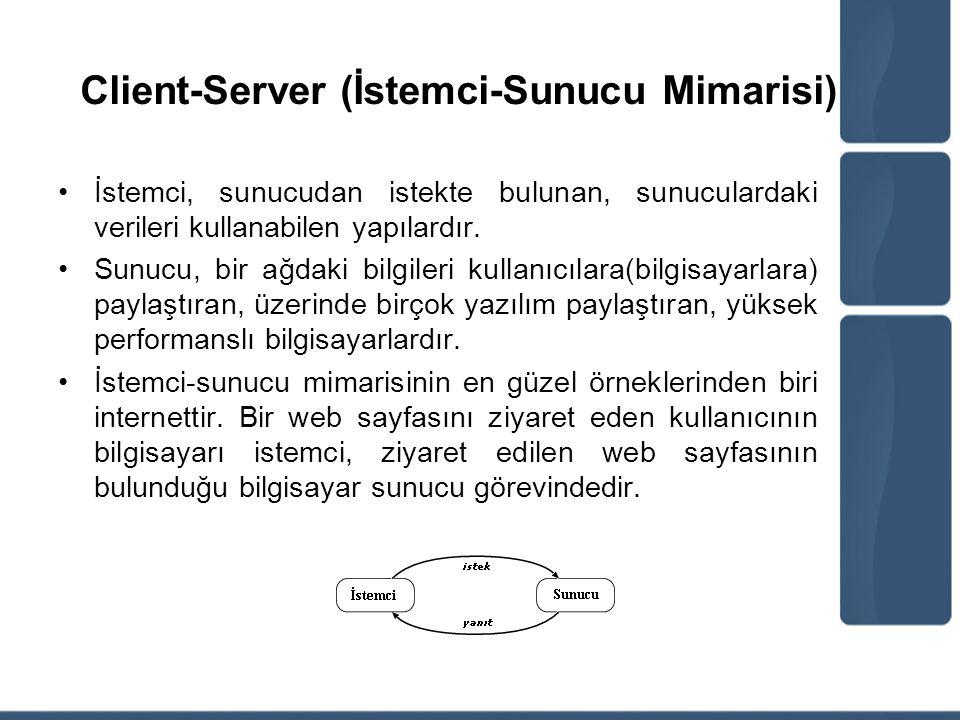 Client-Server (İstemci-Sunucu Mimarisi)