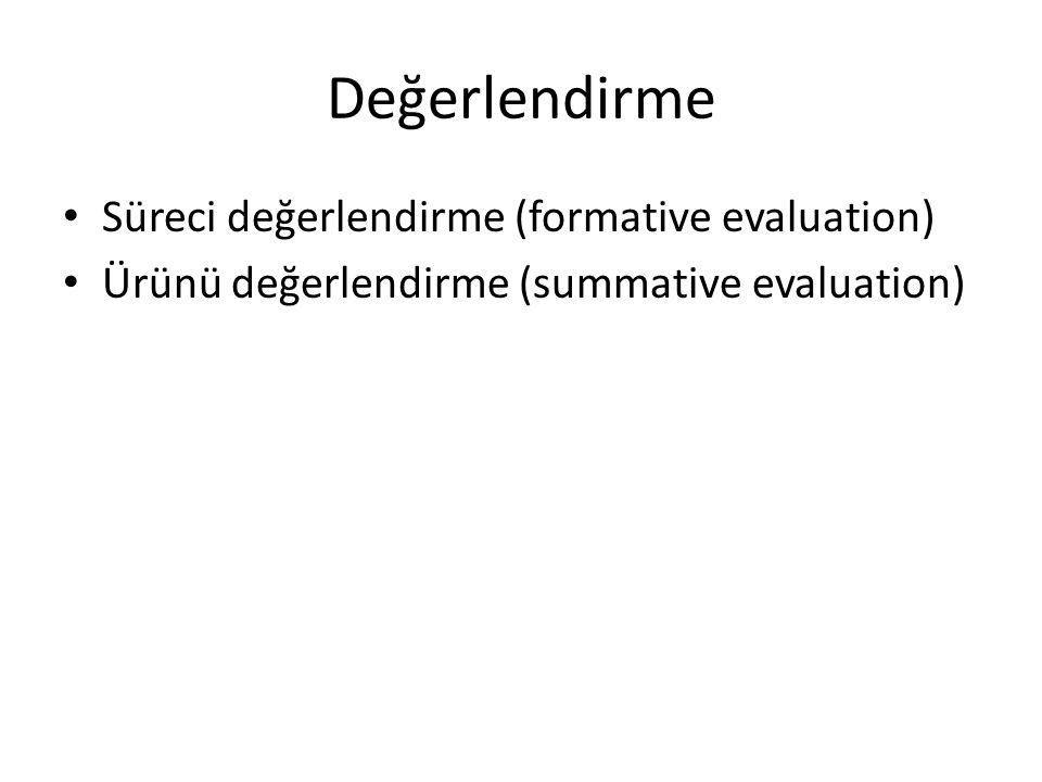 Değerlendirme Süreci değerlendirme (formative evaluation)