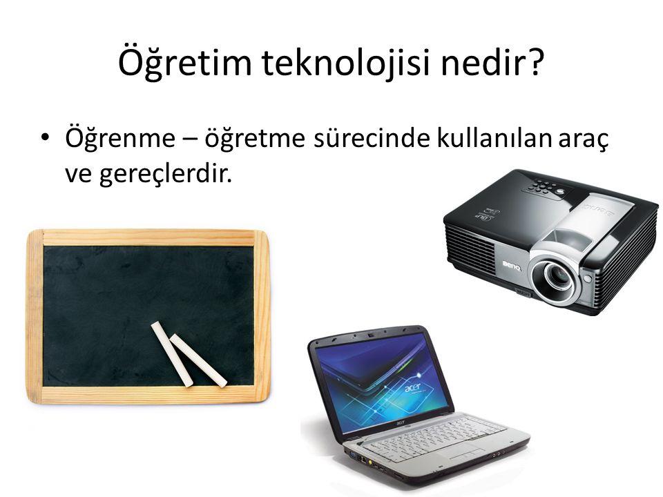 Öğretim teknolojisi nedir