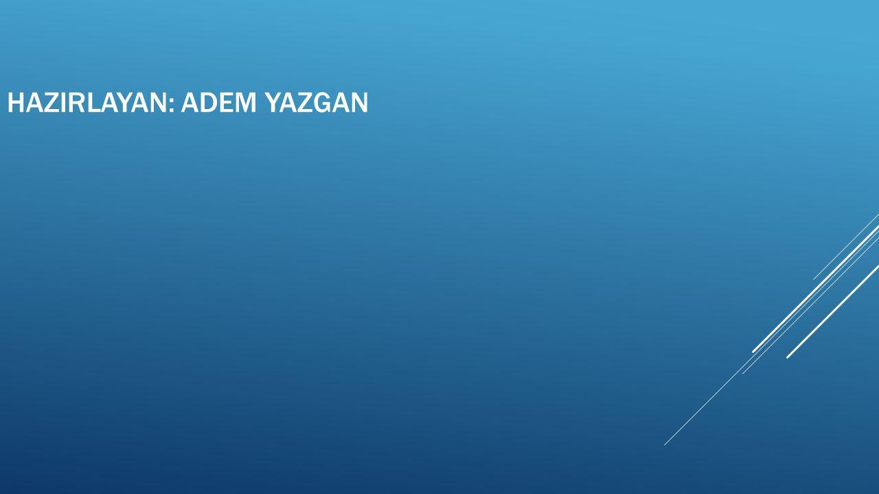 HAZIRLAYAN: Adem yazgan
