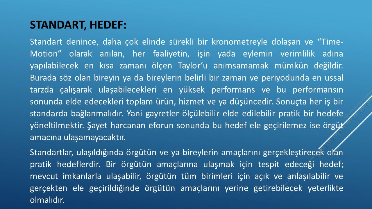 STANDART, HEDEF: