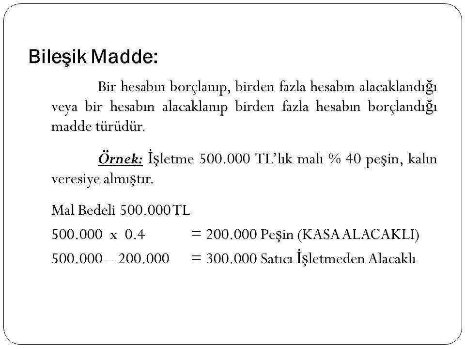 Bileşik Madde: