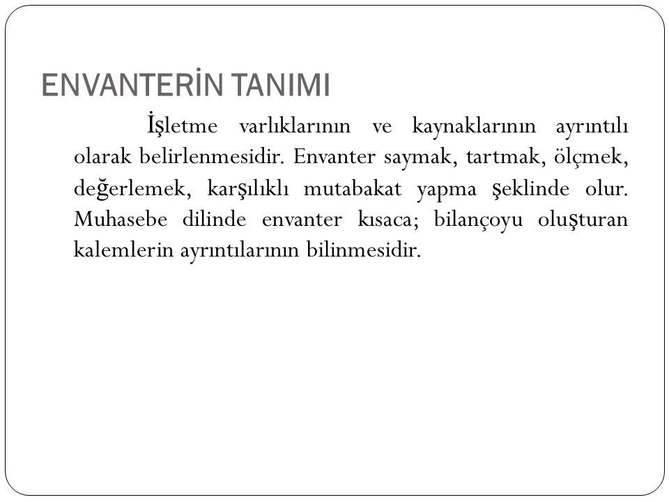 ENVANTERİN TANIMI