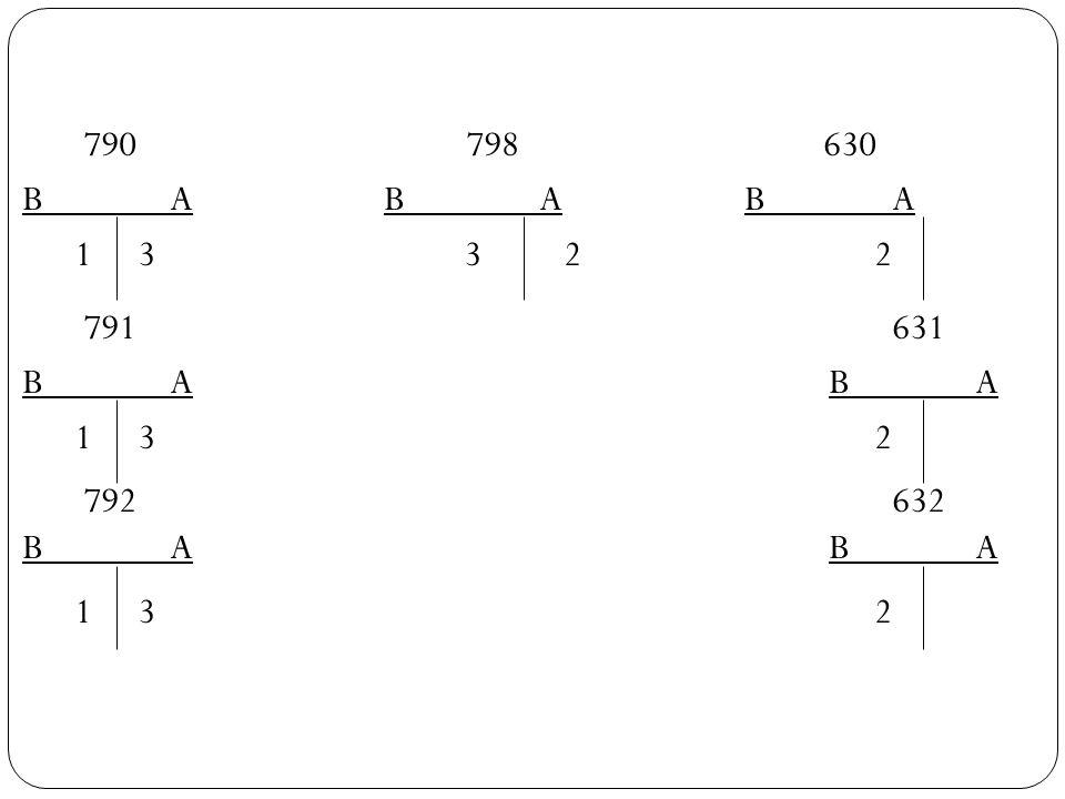 790 798 630 B A B A B A 1 3 3 2 2 791 631 B A B A 1 3 2 792 632
