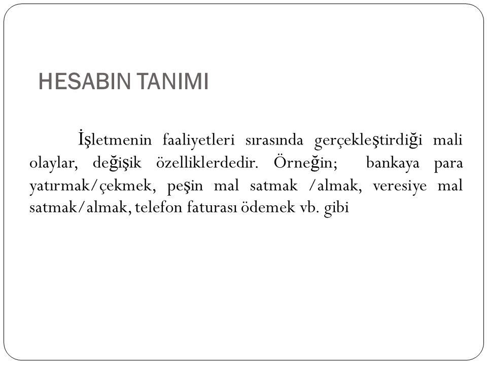HESABIN TANIMI