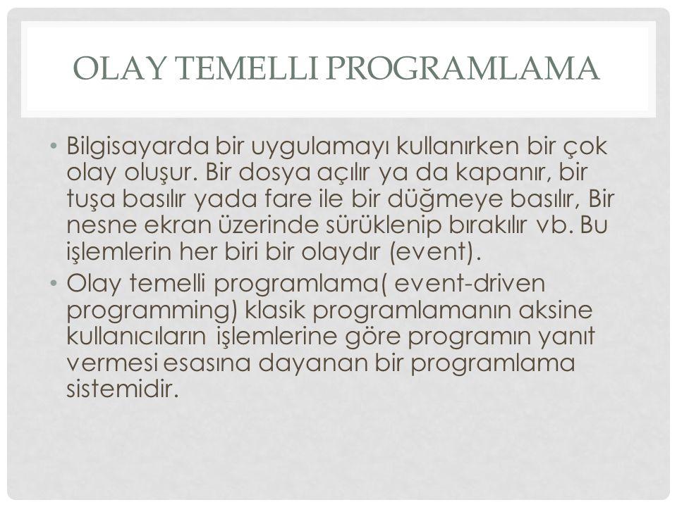 Olay Temelli Programlama