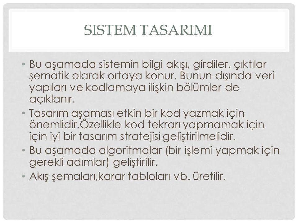 Sistem tasarImI
