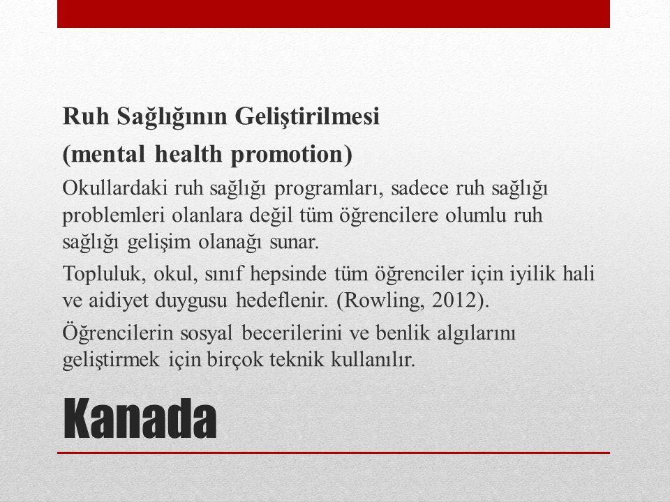 Kanada Ruh Sağlığının Geliştirilmesi (mental health promotion)