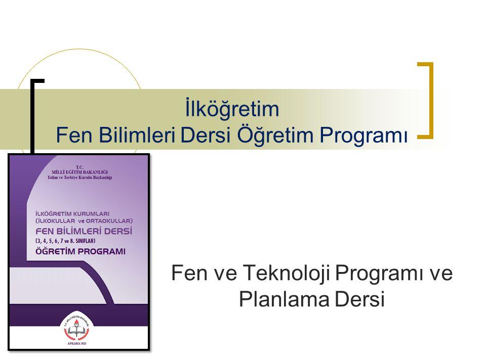 İlköğretim Fen Bilimleri Dersi Öğretim Programı