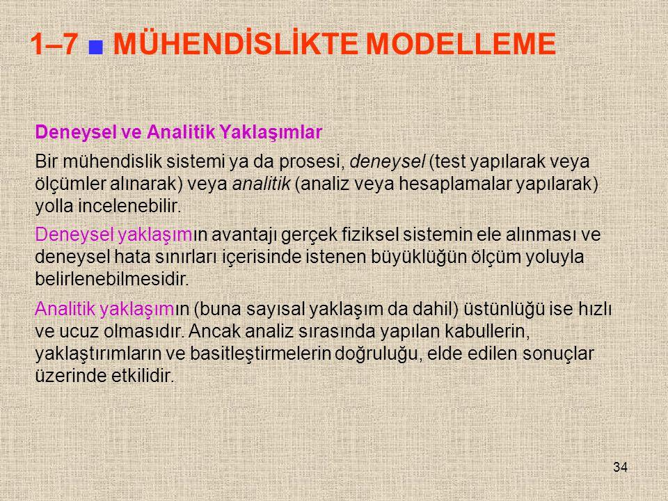 1–7 ■ MÜHENDİSLİKTE MODELLEME