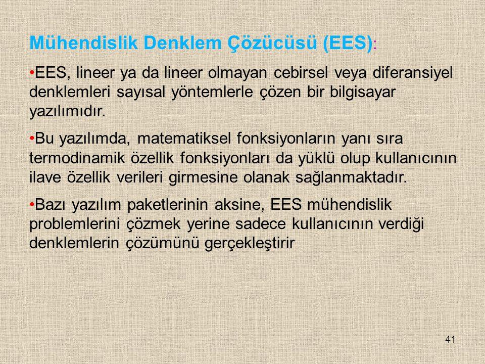 Mühendislik Denklem Çözücüsü (EES):