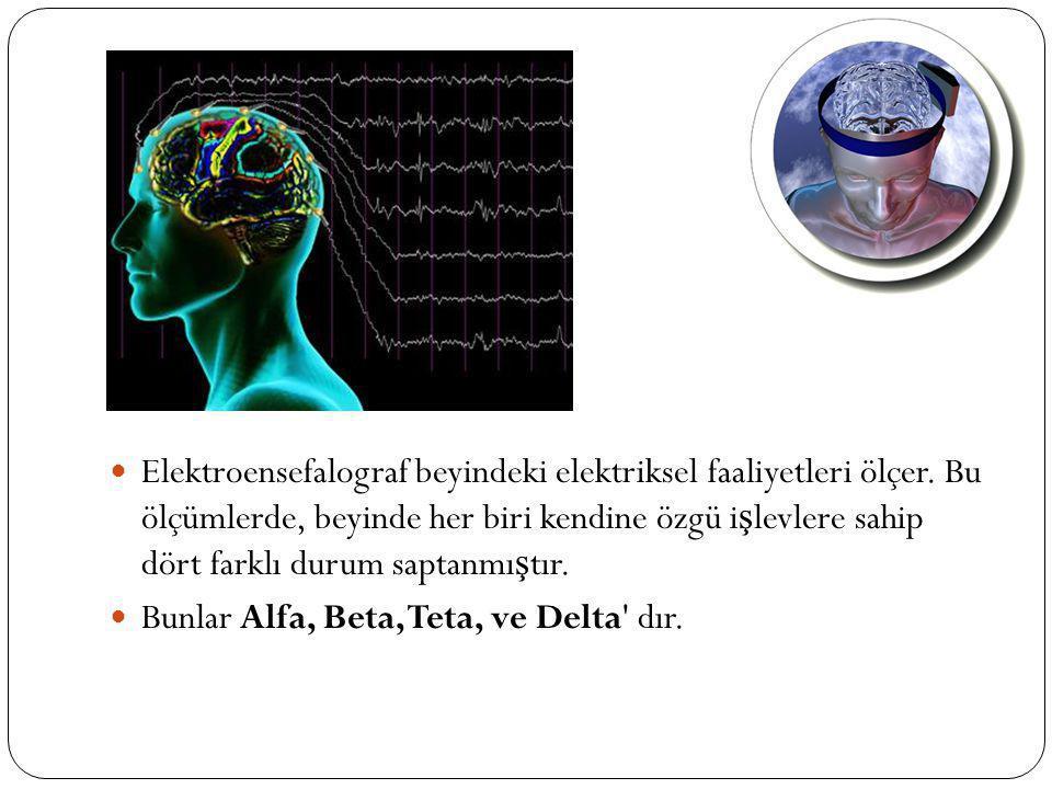 Elektroensefalograf beyindeki elektriksel faaliyetleri ölçer