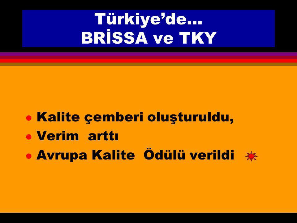 Türkiye'de... BRİSSA ve TKY