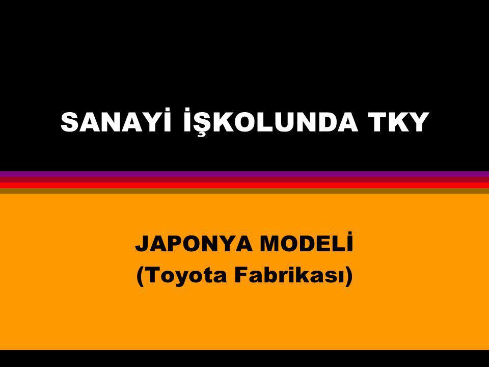 JAPONYA MODELİ (Toyota Fabrikası)