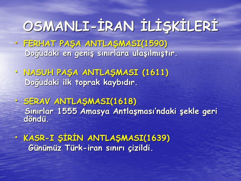 OSMANLI-İRAN İLİŞKİLERİ