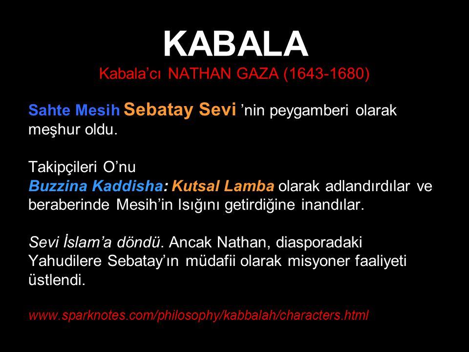 Kabala'cı NATHAN GAZA (1643-1680)