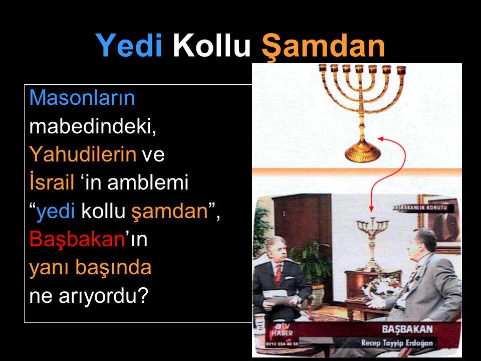 Yedi Kollu Şamdan Masonların mabedindeki, Yahudilerin ve