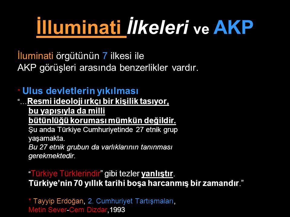 İlluminati İlkeleri ve AKP