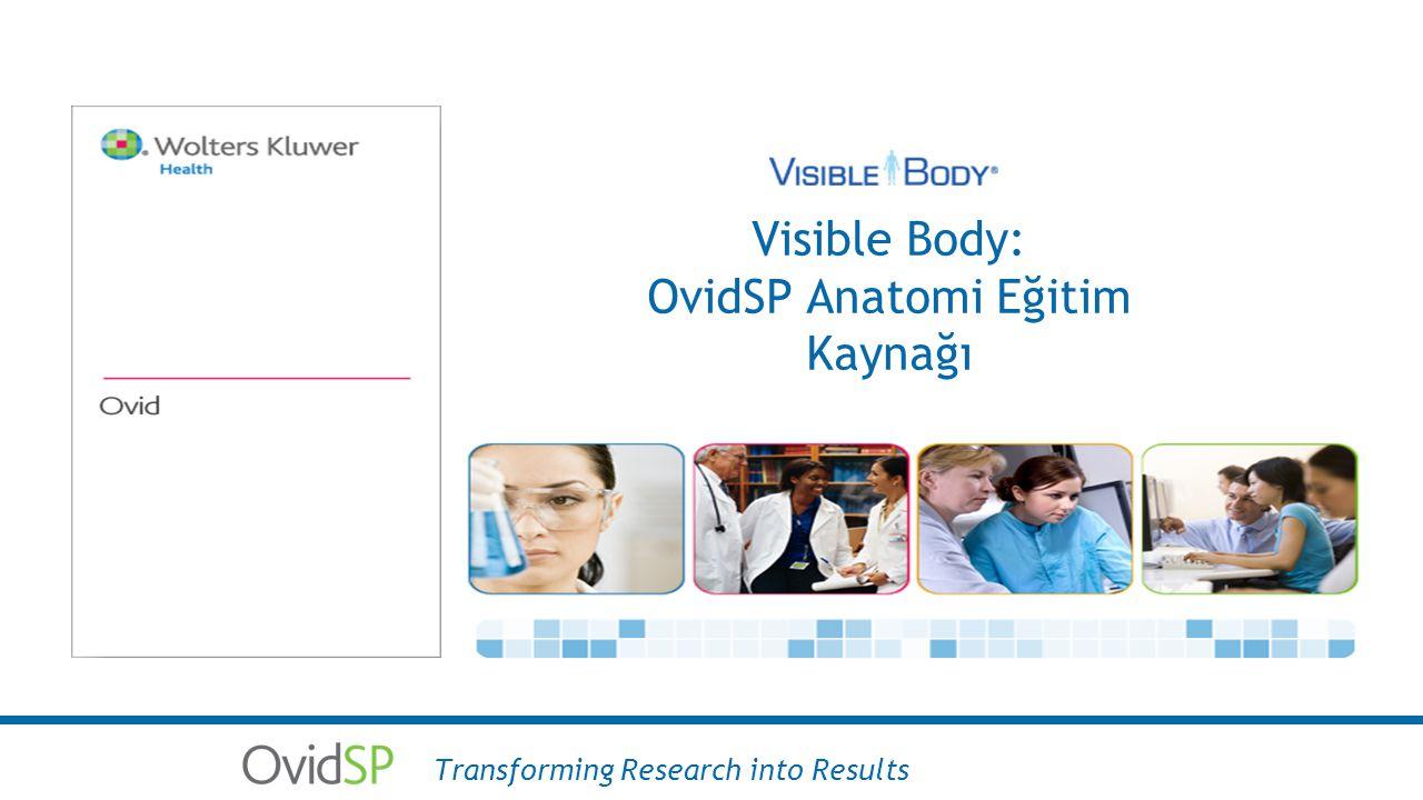 Visible Body: OvidSP Anatomi Eğitim Kaynağı