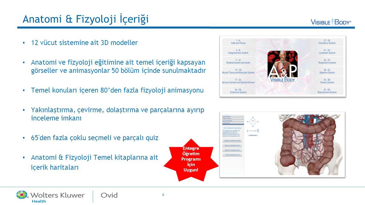 Anatomi & Fizyoloji İçeriği