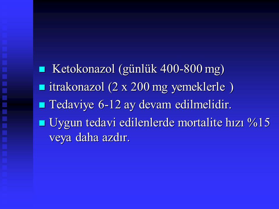 Ketokonazol (günlük 400-800 mg)