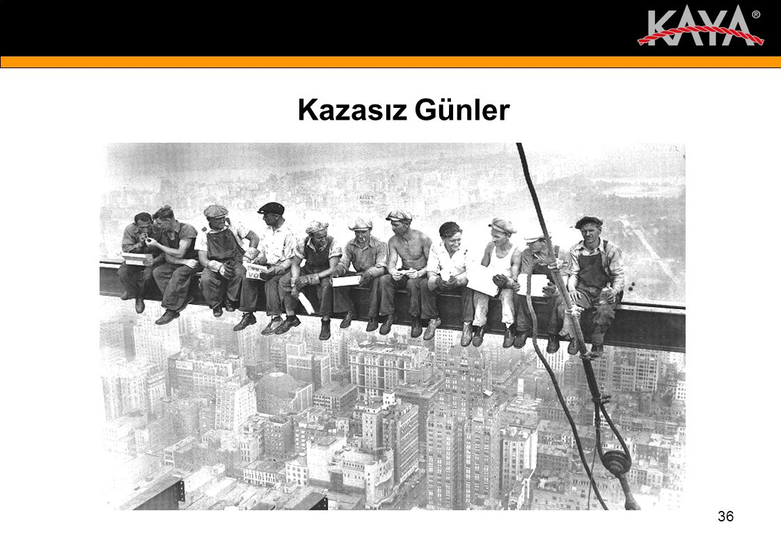 Kazasız Günler New York City in the 1930's. Is there a net down there somewhere