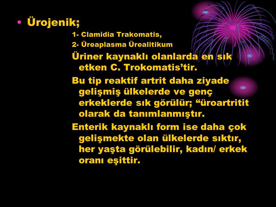 Ürojenik; Üriner kaynaklı olanlarda en sık etken C. Trokomatis'tir.