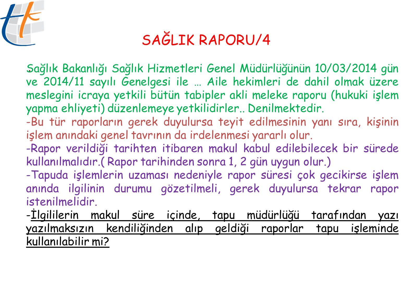 SAĞLIK RAPORU/4 .
