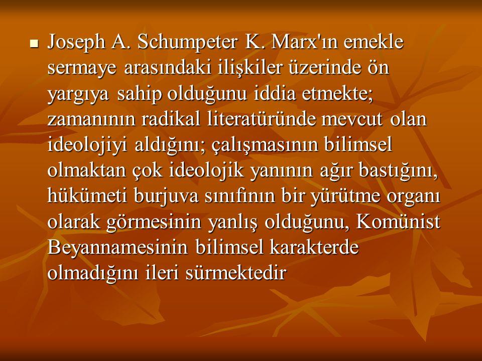 Joseph A. Schumpeter K.