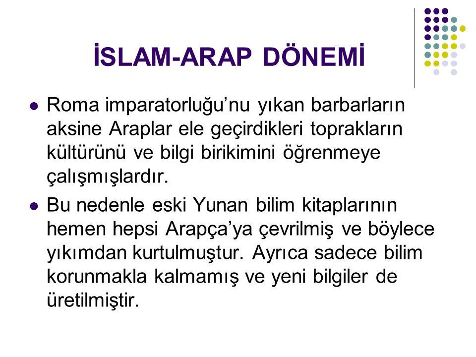 İSLAM-ARAP DÖNEMİ