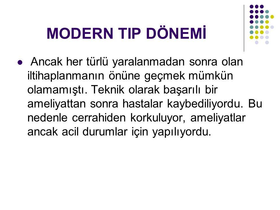 MODERN TIP DÖNEMİ