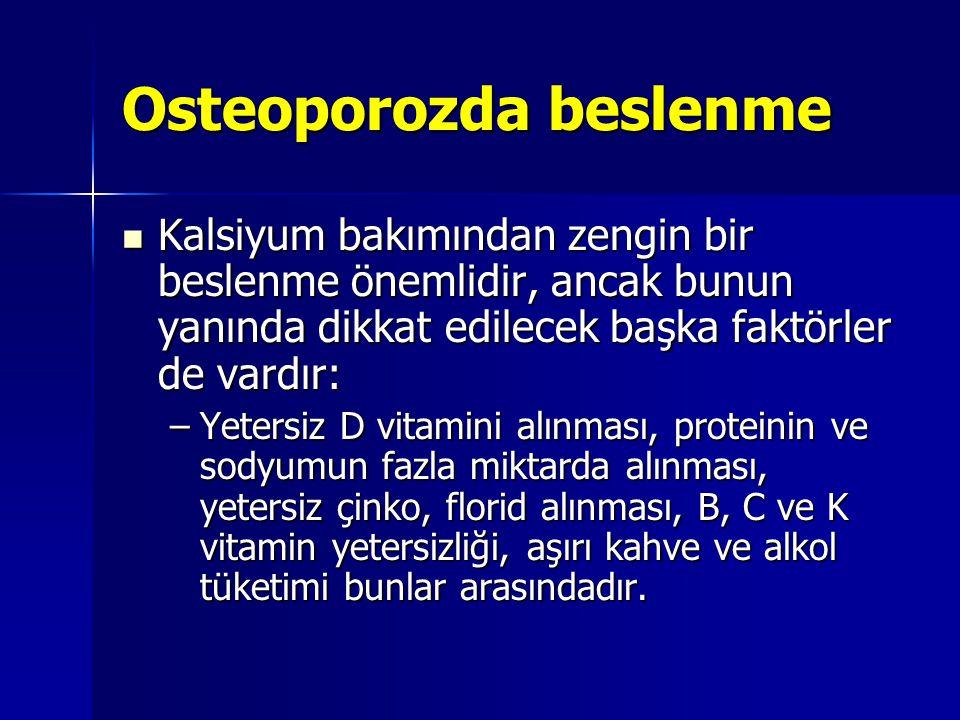 Osteoporozda beslenme