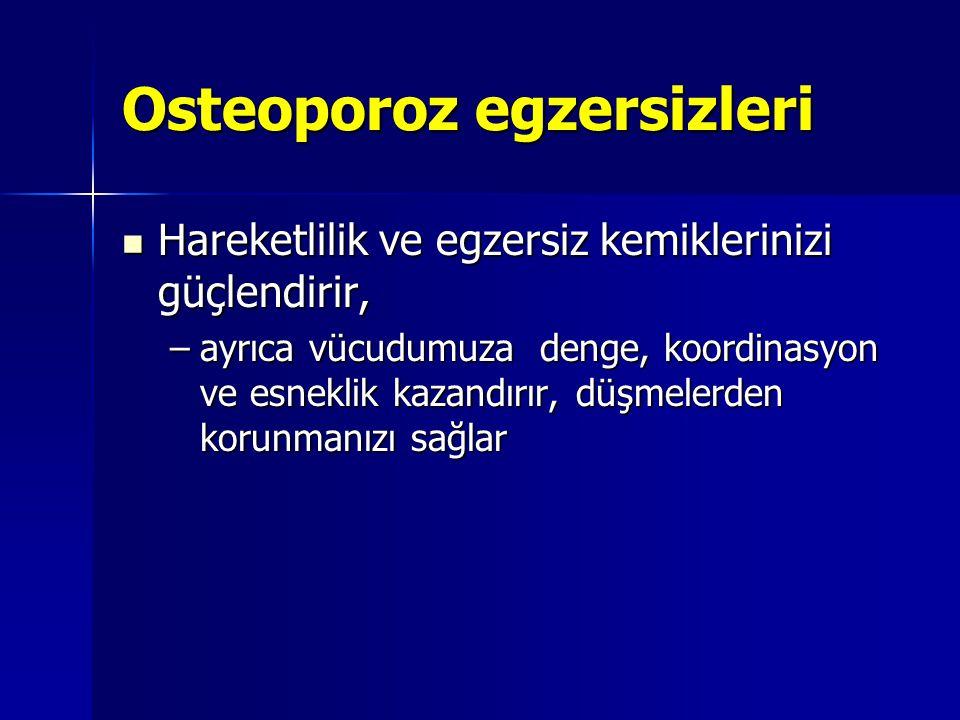 Osteoporoz egzersizleri