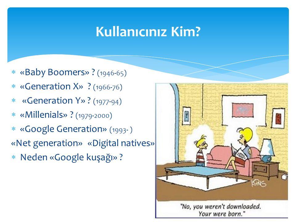 Kullanıcınız Kim «Baby Boomers» (1946-65)