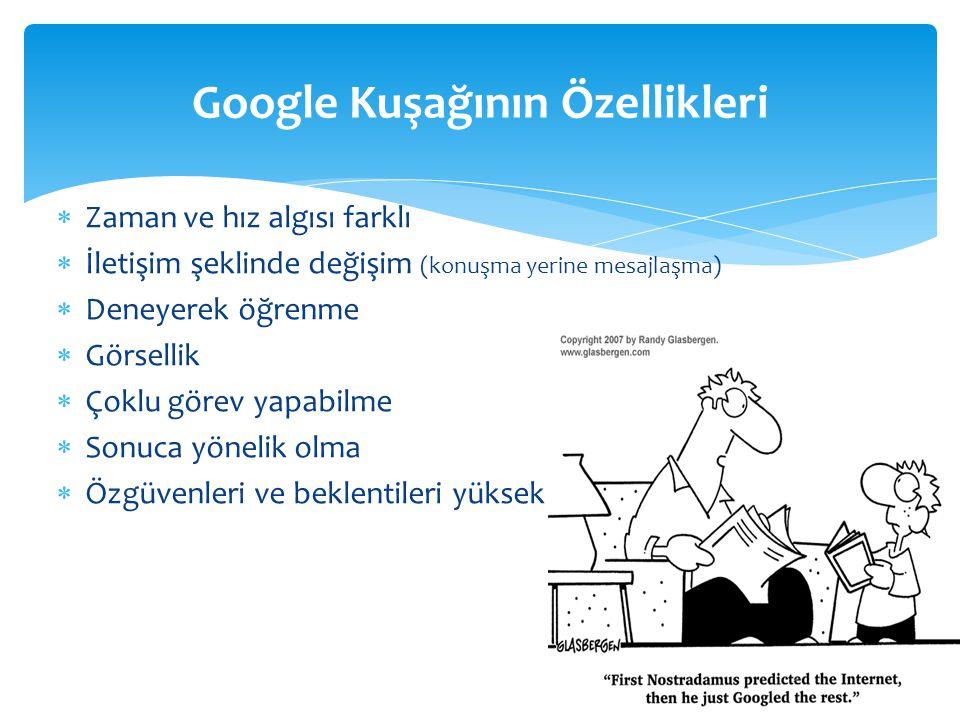 Google Kuşağının Özellikleri