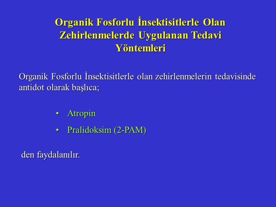 Organik Fosforlu İnsektisitlerle Olan Zehirlenmelerde Uygulanan Tedavi Yöntemleri