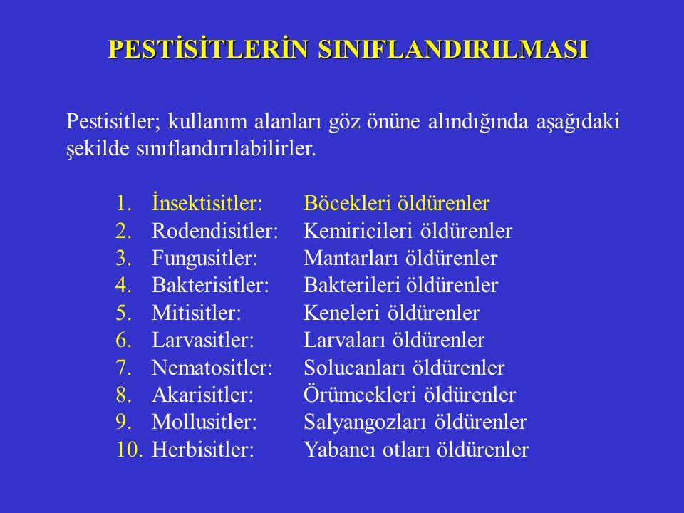 PESTİSİTLERİN SINIFLANDIRILMASI